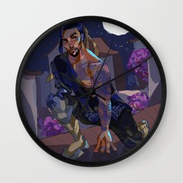 When the Moon is Full Wall Clock