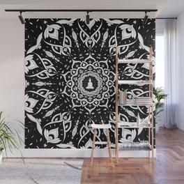 Black and White Mandala Pattern Decor Wall Mural