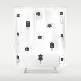 Rainy smile Shower Curtain