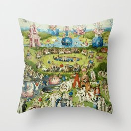 The Garden of Earthly Delights by Hieronymus Bosch Throw Pillow