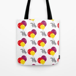 bunny on the balloon pattern Tote Bag