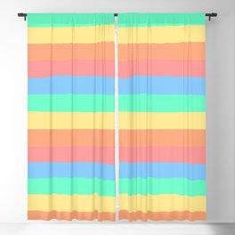 lumpy or bumpy lines abstract and summer colorful - QAB275 Blackout Curtain