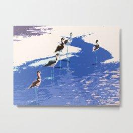 Beach Runners Metal Print