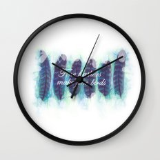 Fine Feathers Wall Clock