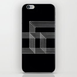 Squares and Lines No. 03 Black iPhone Skin