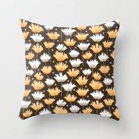 gucci Throw Pillows featuring shaggy black by Ariadne