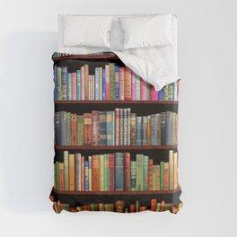 Book Lovers Gifts, Antique bookshelf Duvet Cover