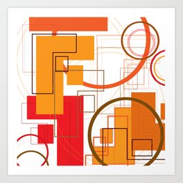 """Typography: Stencil """"F"""" and Adequate Light """"O"""" Art Print"""