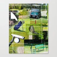 golf Canvas Prints featuring Golf by Andrew Sliwinski