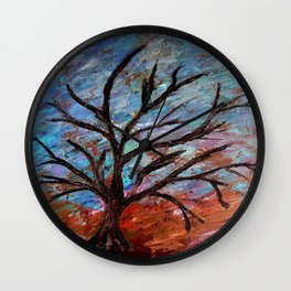 Abstract/palette knife  Wall Clock