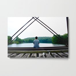 Pensive and Lonesome Metal Print