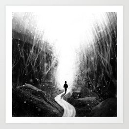 Stick To Your Path. Art Print