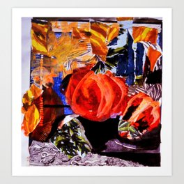 Abstract capsicum Art Print