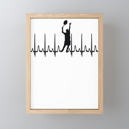 Heartbeat Tennis Gift Framed Mini Art Print