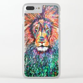 Jungle King Clear iPhone Case