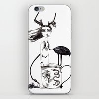 alice in wonderland iPhone & iPod Skins featuring Wonderland by lesinfin