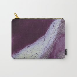 Metallic Watercolor - Garnet/Moonstone Carry-All Pouch