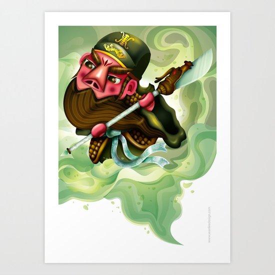 The Three Kingdom - Guan Yu Art Print