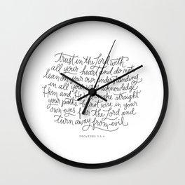 Straight Paths Wall Clock