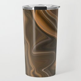 Golden Coppery Ombre Deep Marbled Abstract Texture Travel Mug
