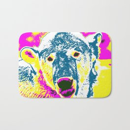 Pop Art Polar Bear 1 Bath Mat