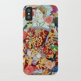 Anne Boleyn, tudor, Henry VIII, Birds, Flowers, Collage, Nature iPhone Case