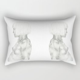 Nude in graphite Rectangular Pillow