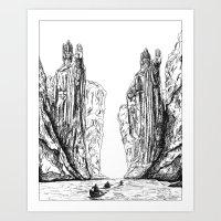 guardians Art Prints featuring Guardians  by AlexanderSattler