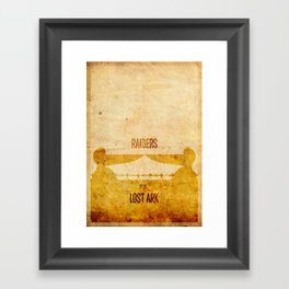 Raiders (aged) Framed Art Print