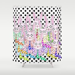 Life Between the Dots Shower Curtain
