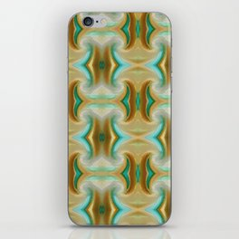 Blue-green and Brown pattern iPhone Skin