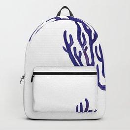 Blue Sea Coral  Illustration Backpack