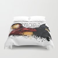 punisher Duvet Covers featuring Money: the best superpower by Vickn