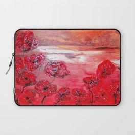 Hot sunset, bloemen in hars gegoten by Ans Duin Laptop Sleeve