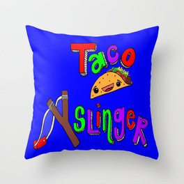 Taco Slinger Throw Pillow