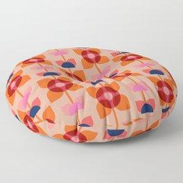 Retro floral pattern no4 Floor Pillow