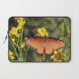 Queen Butterfly on Rubber Rabbitbrush in Claremont CA Laptop Sleeve