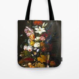 Severin Roesen - Victorian Bouquet Tote Bag