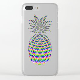 PSYCHEDELIC PINEAPPLE Clear iPhone Case