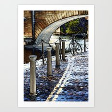 Riverside York Art Print