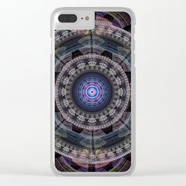Modern mandala with tribal patterns Clear iPhone Case
