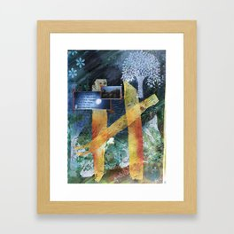 Beautiful and Dark Framed Art Print