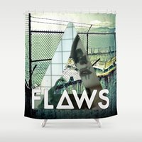 bastille Shower Curtains featuring Bastille - Flaws by Thafrayer