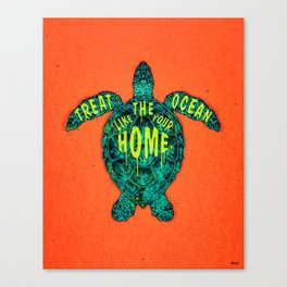 ocean omega (variant 2) Canvas Print