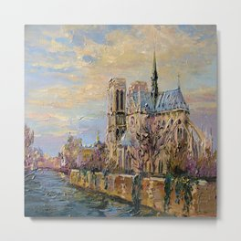 Spring in Paris Metal Print