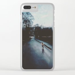 Winter morning transport Clear iPhone Case