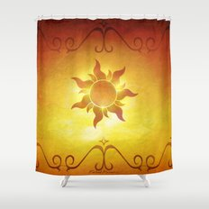 ...and at last i see the light! Shower Curtain