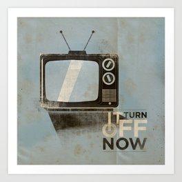 Tv ... Art Print