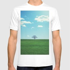 Spring Greens Mens Fitted Tee White MEDIUM