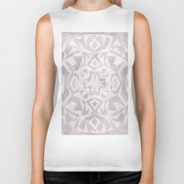 Geometric Mandala on a textured background Biker Tank